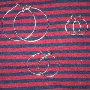 Varied Size Hoop Earrings
